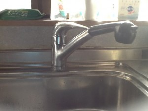 キッチン水栓取替工事 施工事例 名古屋市天白区 施工前