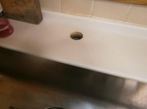 名古屋市名東区 キッチン水栓 ガスコンロ取替工事 撤去後