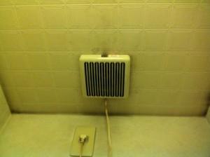名古屋市東区 水栓 換気扇取替工事 換気扇施工前