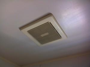 名古屋市東区 水栓 換気扇取替工事 浴室施工中