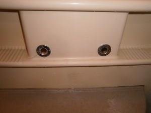 名古屋市北区 浴室水栓取替工事 撤去後