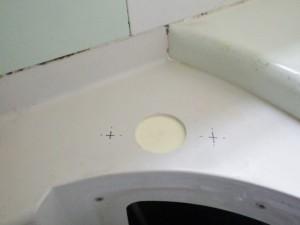 浴室水栓取り替え工事 施工中