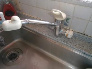 名古屋市名東区 キッチン水栓取替工事 施工前