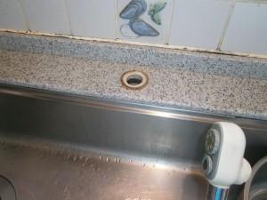 名古屋市名東区 キッチン水栓取替工事 撤去後