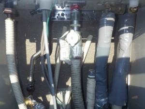 給湯器取替工事 配管部施工後
