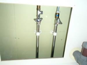 キッチン水栓取替工事 施工中