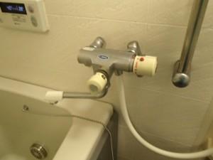 浴室シャワー水栓取替工事 施工前