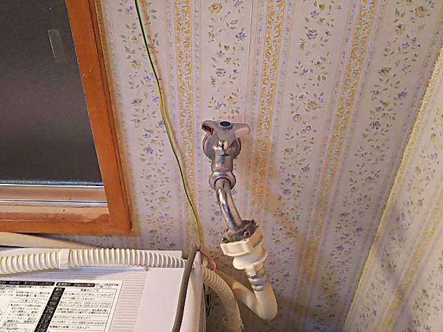 洗濯水栓取替前